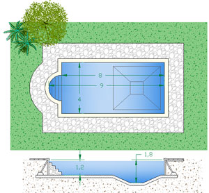 Preventivi piscine interrate idea creativa della casa e - Piscina interrata costo ...