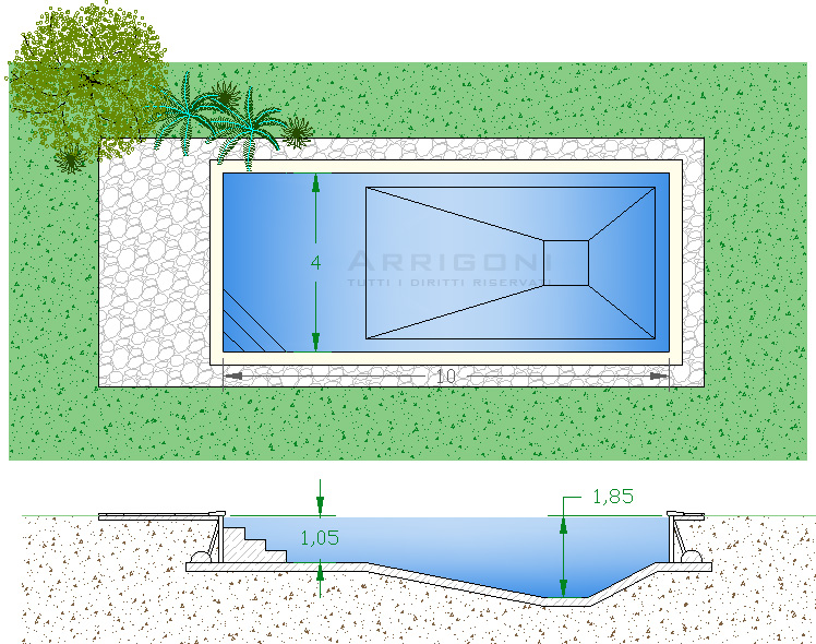 Piscine rettangolari interrate - Piscine interrate costi ...