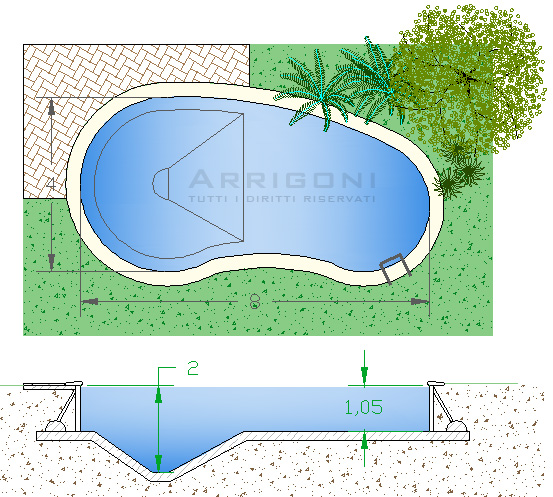 Dimensioni piscine interrate - Piscine interrate costi ...